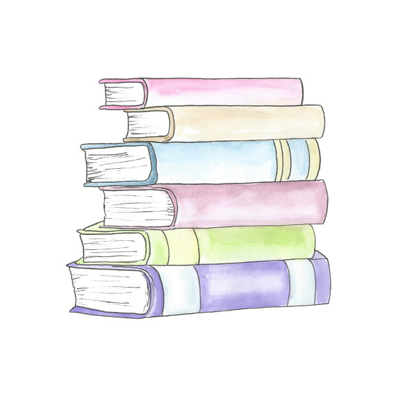 Water Color clipart school thing Item? Stack Clipart // //