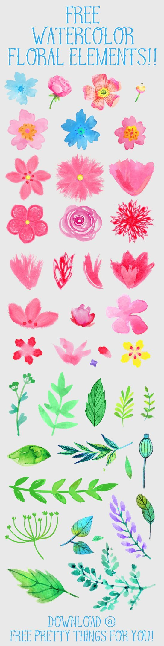 Water Color clipart school thing Flower 210 on Freebies Pinterest