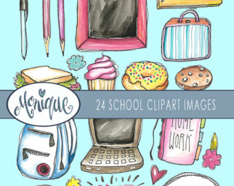 Water Color clipart school thing To planner Personal school girl