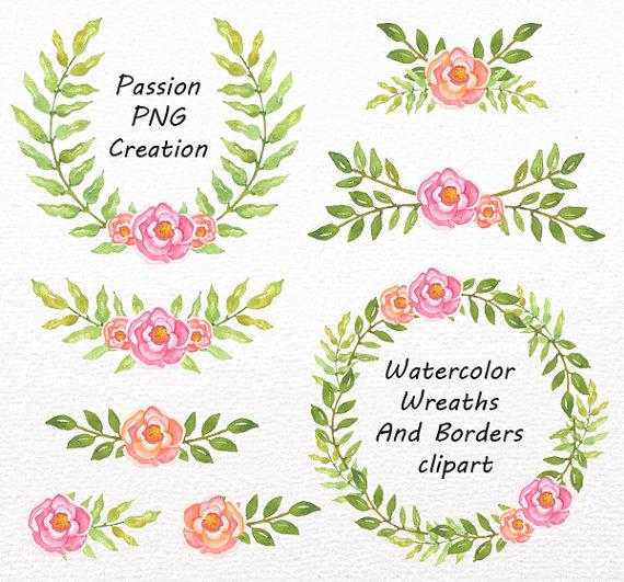 Wreath clipart watercolor Watercolor item? And Wreaths Laurel