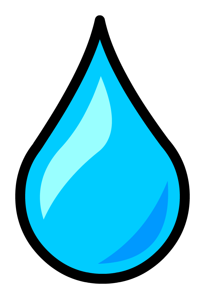 Water Drop clipart Club  Penguin Water on