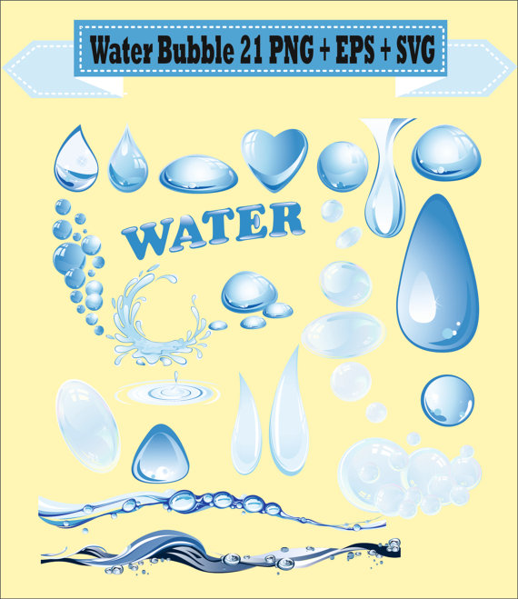 Water Droplets clipart fresh water Bubble Vector Water Drop Clipart