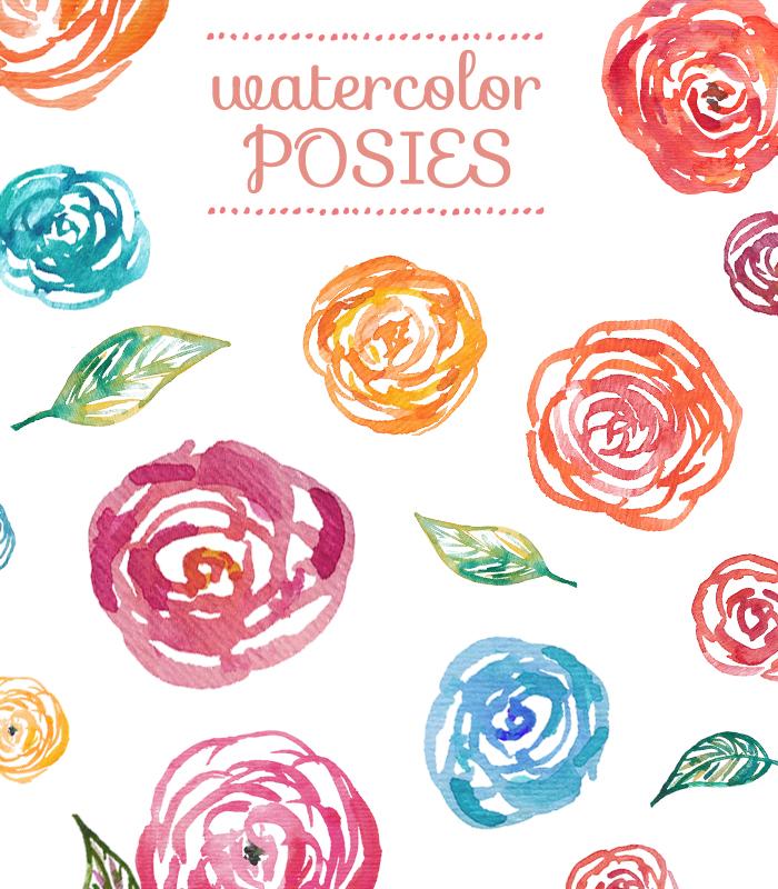 Watercolor clipart Flowers Clipart Watercolor Flowers Clipart