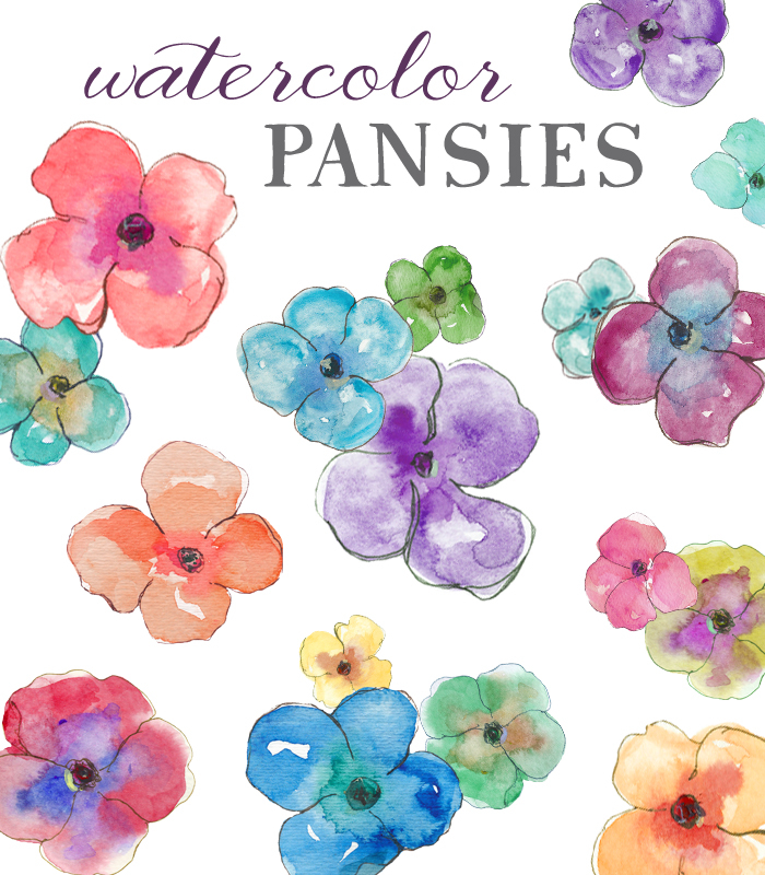 Water Color clipart Watercolor clip pansies com Watercolor