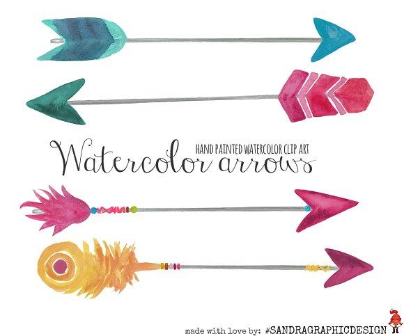 Arrow clipart watercolor #5