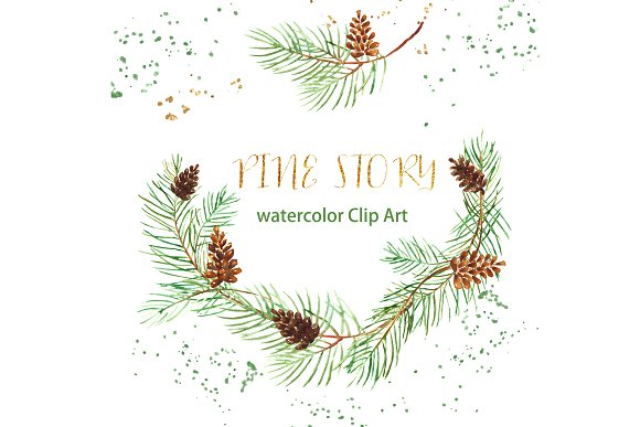 Branch clipart watercolor Branches Illustrations Creative branches Art