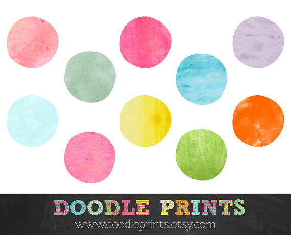Dots clipart ten Printable Dots Clip Watercolor Images