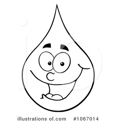 Waterdrop clipart black and white #7
