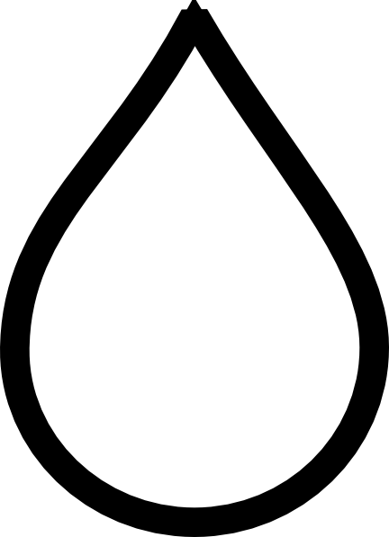 Waterdrop clipart black and white #9