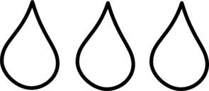 Waterdrop clipart black and white #6