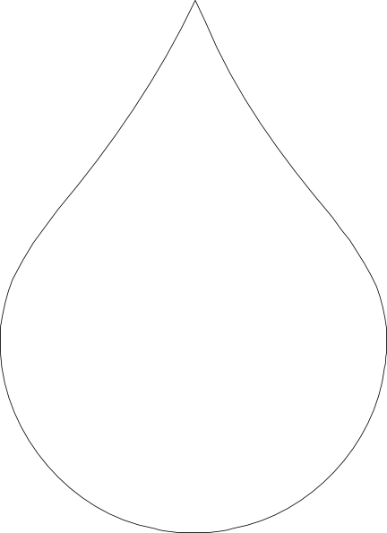 Waterdrop clipart black and white #5