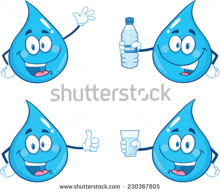 Waterdrop clipart character #4