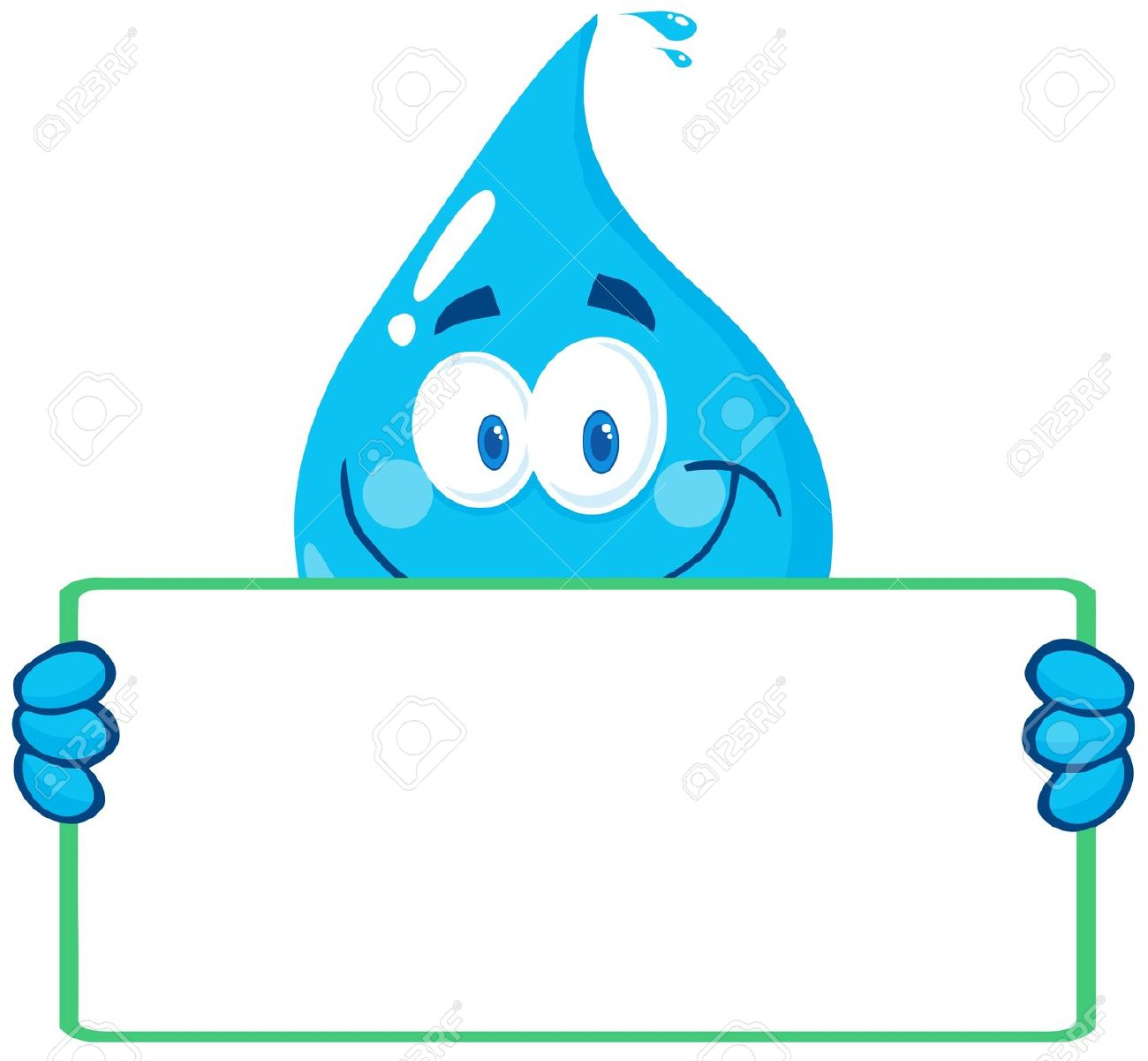 Waterdrop clipart character #6