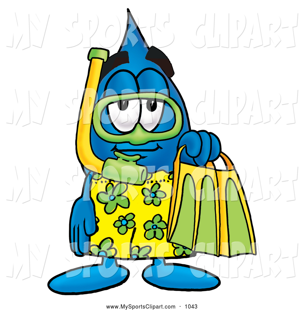 Waterdrop clipart character #5