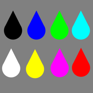 Waterdrop clipart colorful raindrop #2