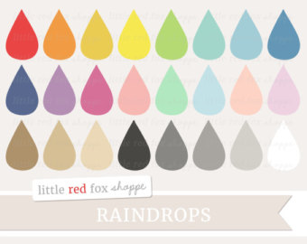 Waterdrop clipart colorful raindrop #7
