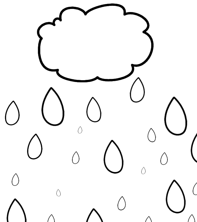 Water Droplets clipart colouring picture Drops Drop Rain Art Pages