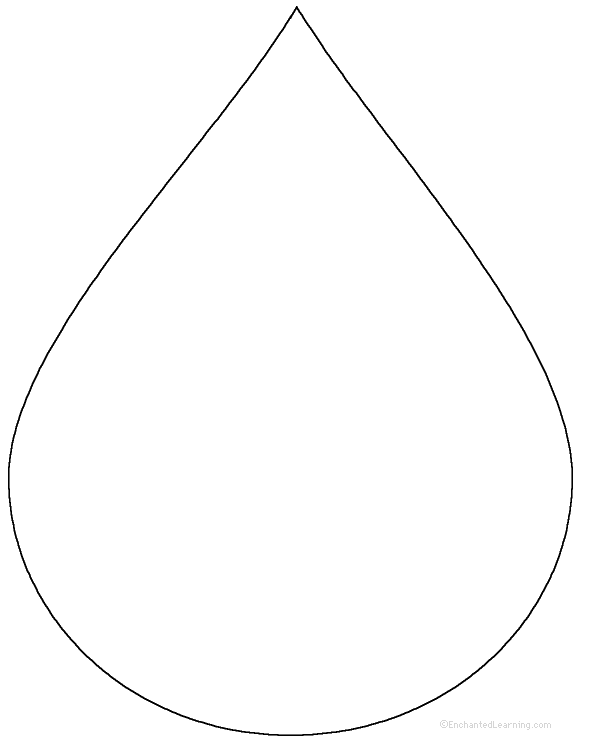 Water Droplets clipart colouring picture Drop: Water at com Related
