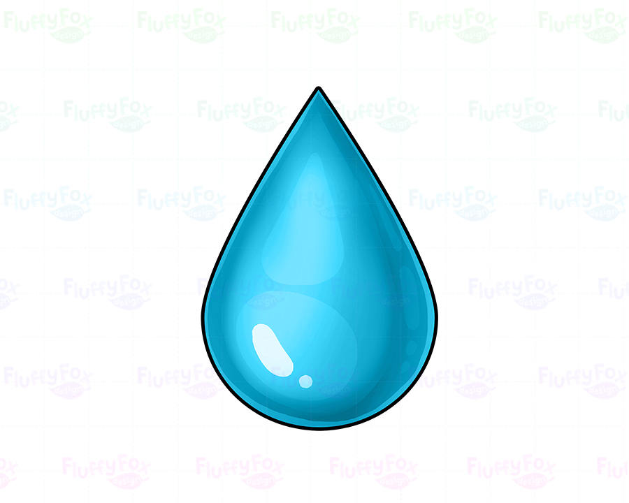 Digital Water is OFF Clipart