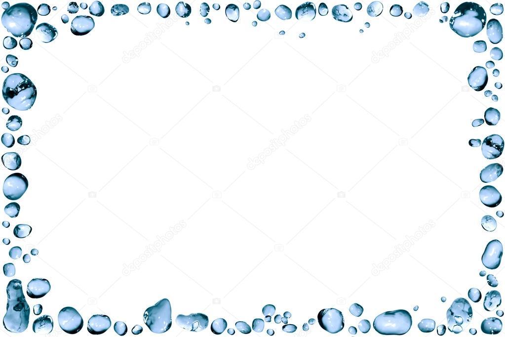 Waterdrop clipart frame #5