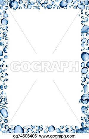 Waterdrop clipart frame #1