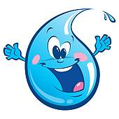 Water Droplets clipart happy #3