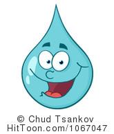 Waterdrop clipart happy #8