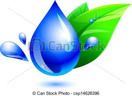 Waterdrop clipart leaf #3