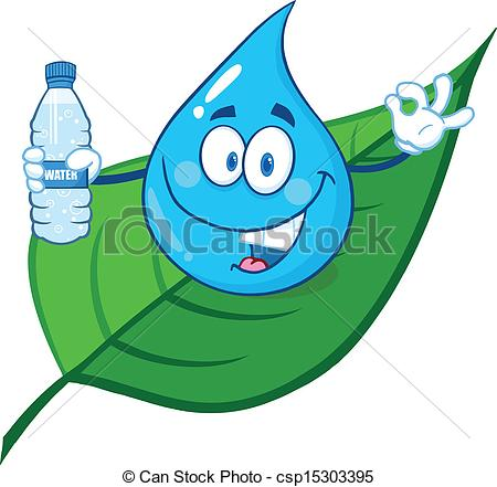 Waterdrop clipart leaf #8