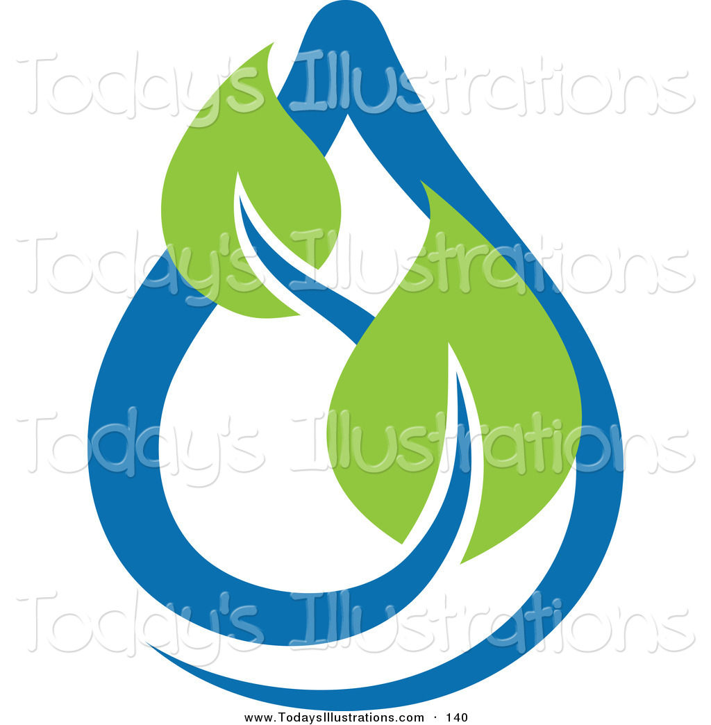 Water Droplets clipart icon Icon Drop Leaves Water Blue