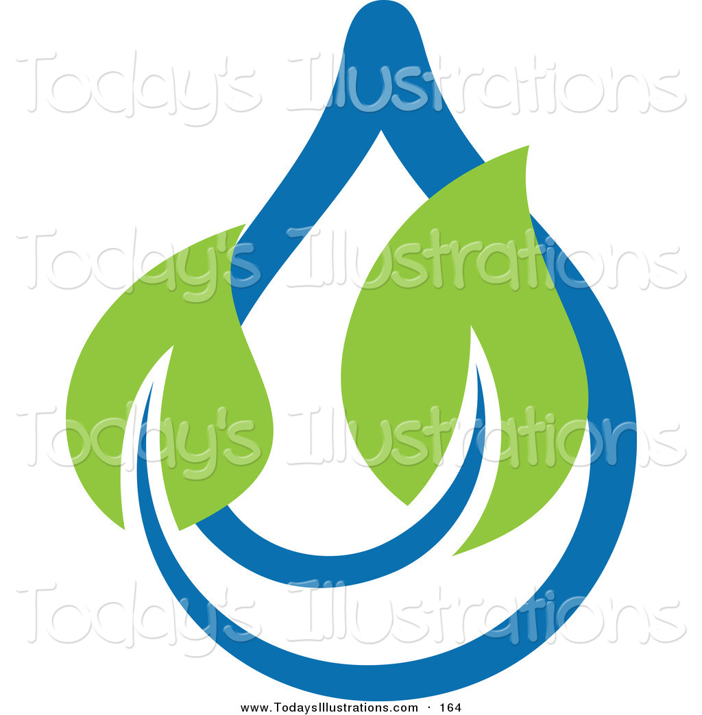 Water Droplets clipart icon Clipart Logo Blue Ecology Water