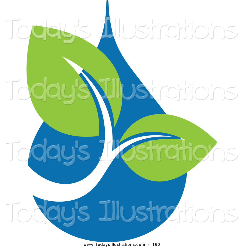 Water Droplets clipart icon Ecology Drop Green of