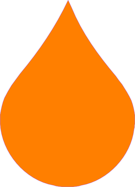 Waterdrop clipart orange #2