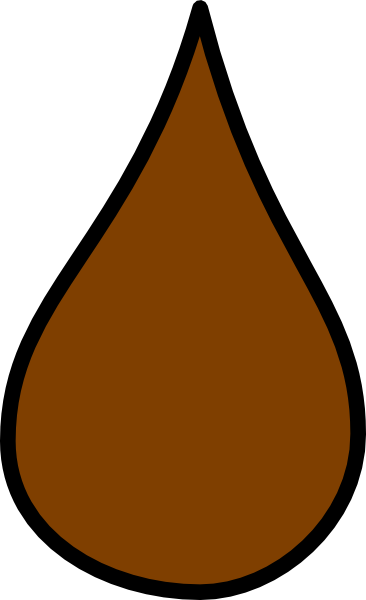 Waterdrop clipart orange #4