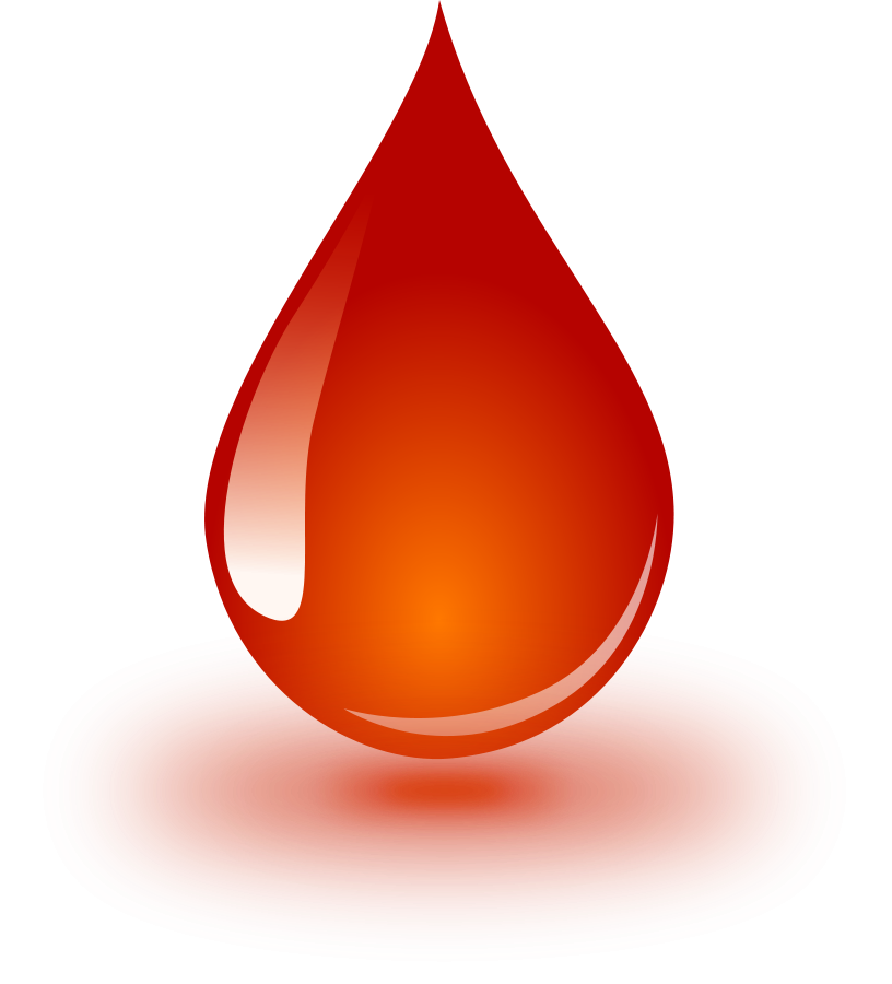 Waterdrop clipart orange #1