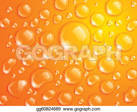 Waterdrop clipart orange #8