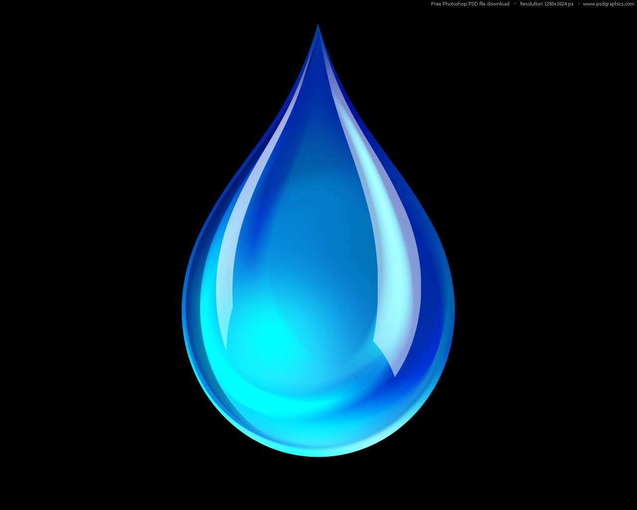 Black blue Water icon icon