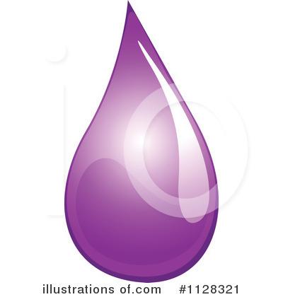 Waterdrop clipart purple #4