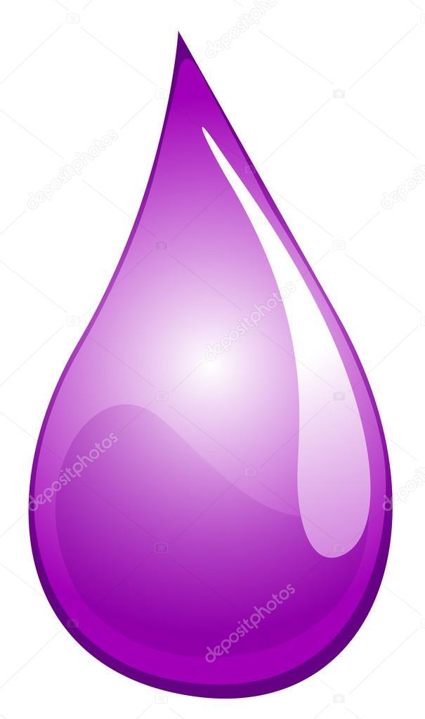 Waterdrop clipart purple #6