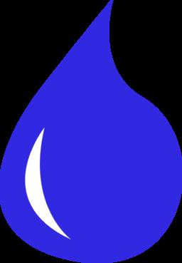 Waterdrop clipart purple #15