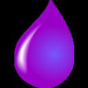 Waterdrop clipart purple #1