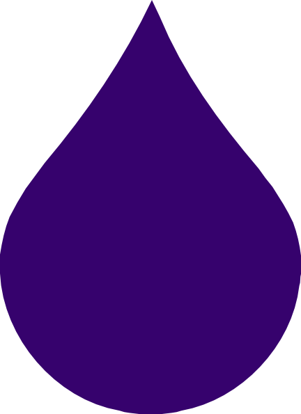 Waterdrop clipart purple #8