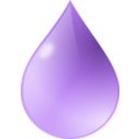 Waterdrop clipart purple #2