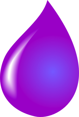 Waterdrop clipart purple #5