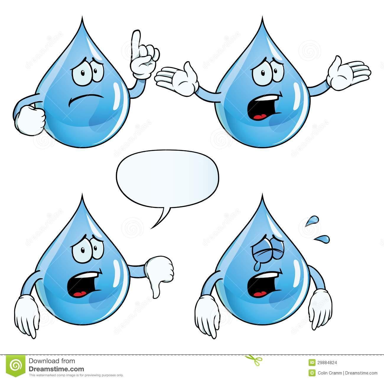 Waterdrop clipart sad Clipart art Drop cartoon drop