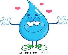 Waterdrop clipart sick With Vector Drop Water Water