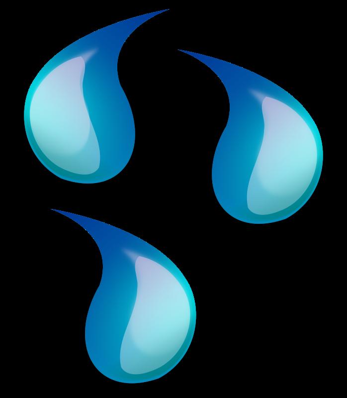 Water Droplets clipart teardrop Art Water Water Clip on