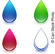 Water Droplets clipart teardrop  of Water of Illustration