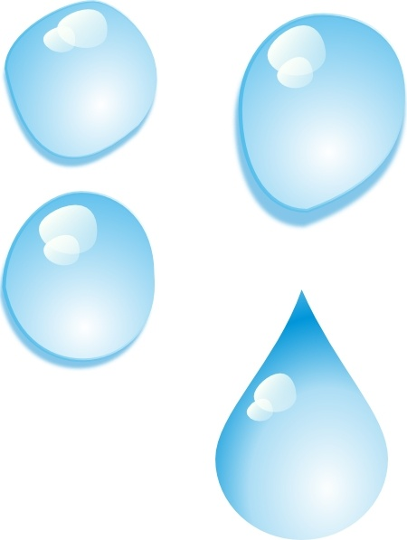 Water Droplets clipart transparent Transparent Set Of vector Water