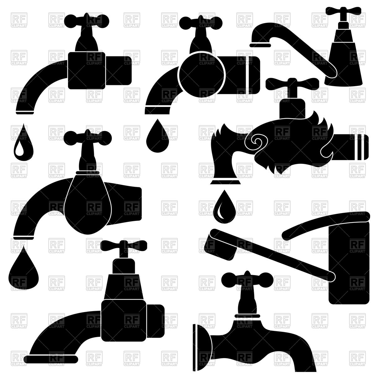 Fawcet clipart water drop Vector water of and collection